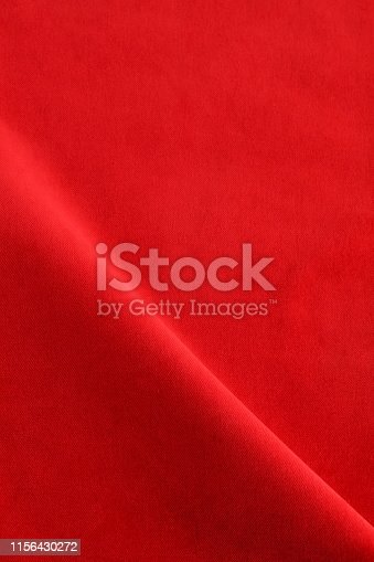 velvet fabric texture background red color. Christmas festive baskground. expensive luxury, material, cloth.Copy space.