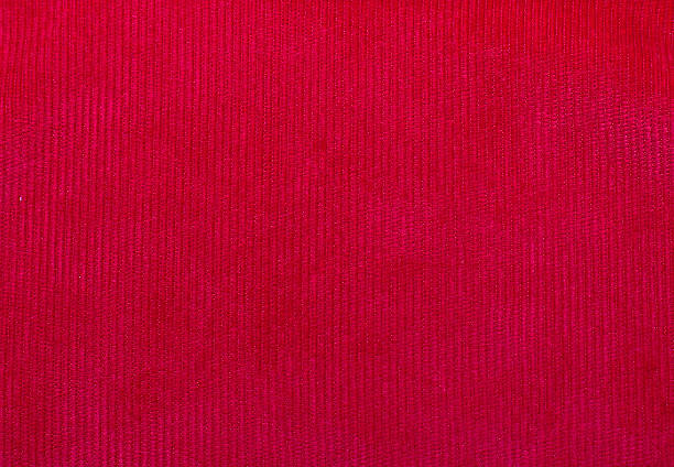 velvet fabric texture, red, for backgrounds and textures - corduroy stock pictures, royalty-free photos & images