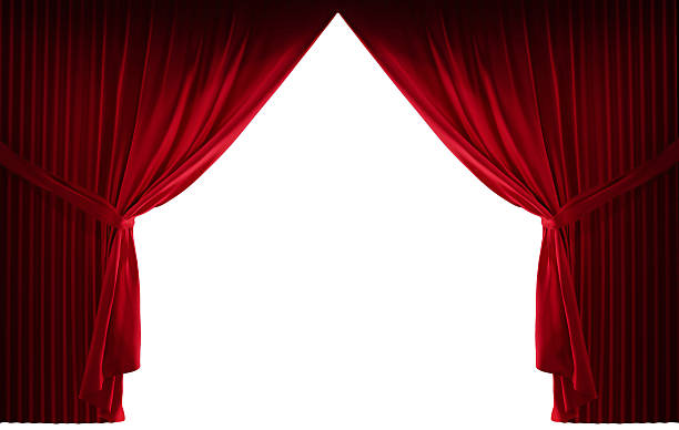 velvet red courtain - curtain stock pictures, royalty-free photos & images