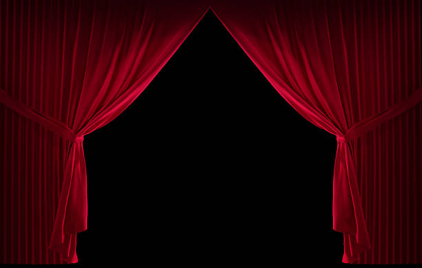 velvet red curtain - curtain stock pictures, royalty-free photos & images