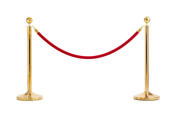 Velvet rope isolated  boundary stock pictures, royalty-free photos & images