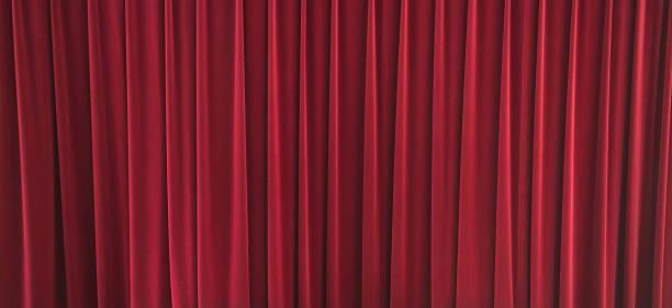Velvet Stage Curtain stock photo
