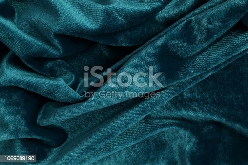 velvet texture background blue color. Christmas festive baskground. expensive luxury, fabric, material, cloth.Copy space.
