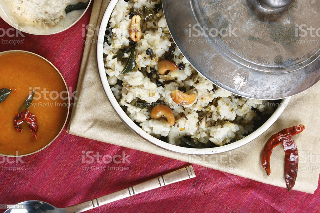 Ven pongal is common and popular breakfast in Tamilnadu. - Royalty-free Cooked Stock Photo