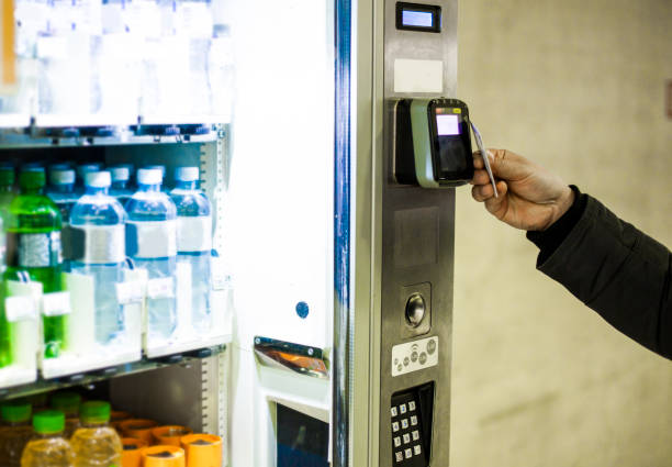 Vending Machine -  Credit Card Purchase stock photo