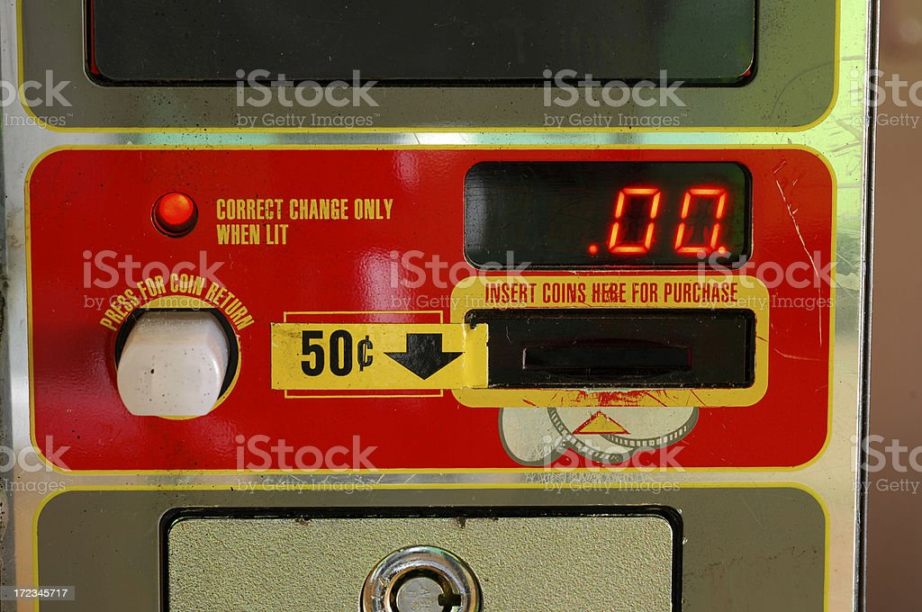 Vending machine digital readout royalty-free stock photo