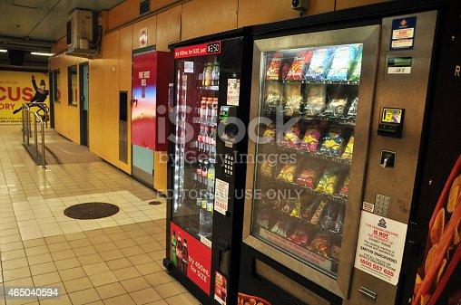 New South Wales, Australia - January 24, 2015: Vending machine at Subway Train in New South Wales, Australia.
