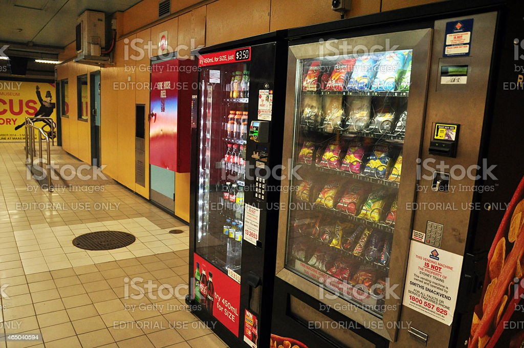 Vending machine in Subway Train at Sydney stock photo