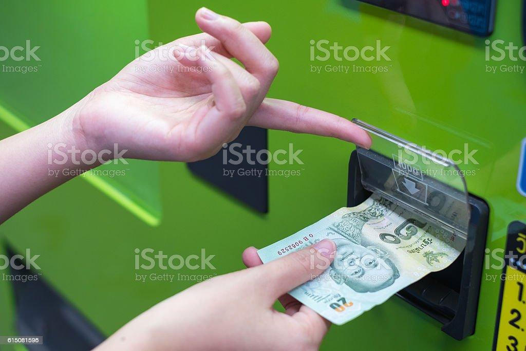 Vending machine stock photo