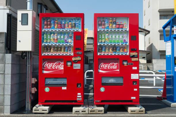 Automaten von verschiedenen Unternehmen in Tokio. – Foto