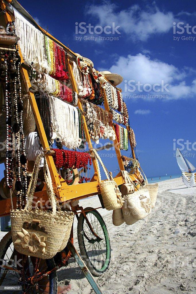 Vendor on Varadero beach royalty-free stock photo