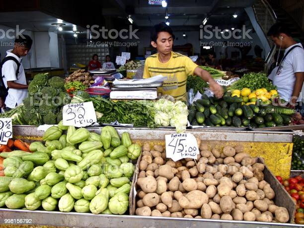 Vendor sells fresh vegetable in a store at a public market picture id998156792?b=1&k=6&m=998156792&s=612x612&h=6zgbdg131jsaqs2iqz crpwa2sdsenick ia49pfukk=