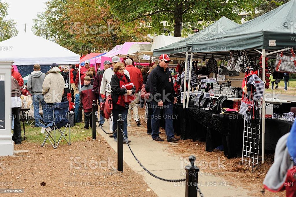 Vendors at homecoming stock photo