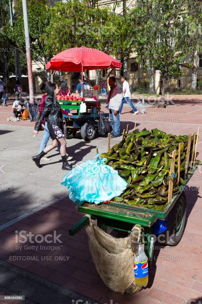 Vendors in the Parque de Los Periodistas stock photo