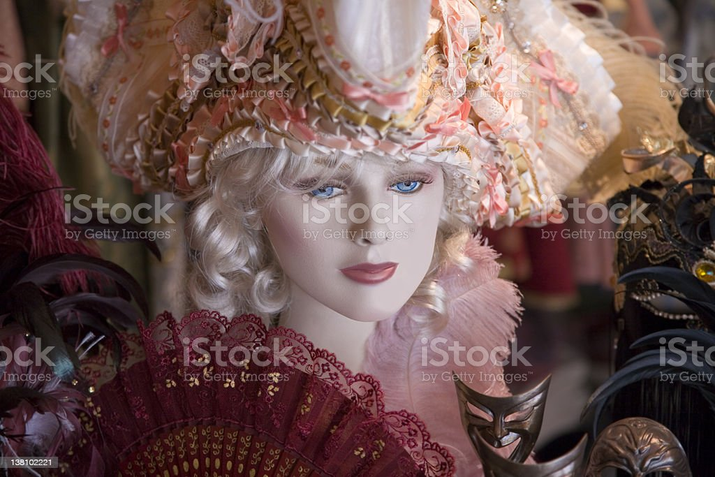 Venecian Female Maniqui royalty-free stock photo