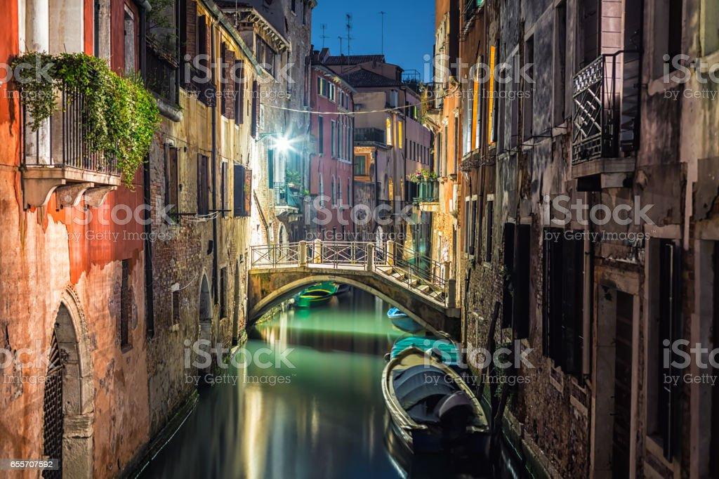 Venedig at night stock photo