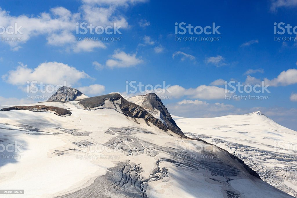 Venedigergruppe - Mountain Großvenediger in Hohe Tauern Alps, Austria stock photo
