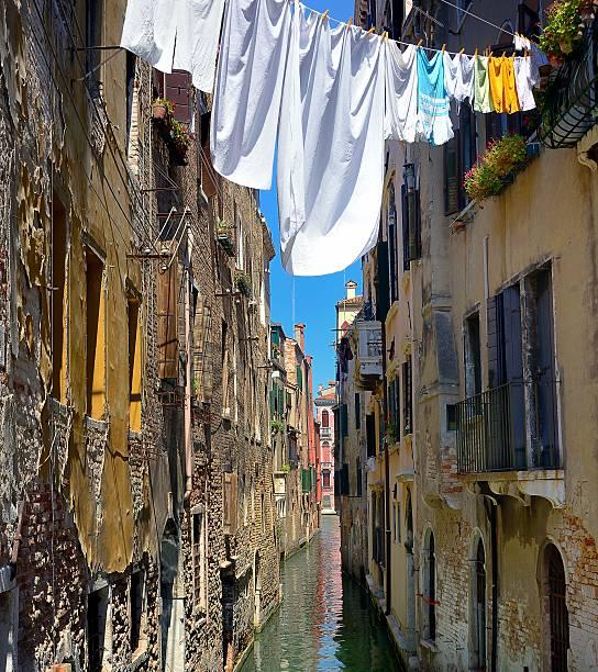 Venetian alley stock photo