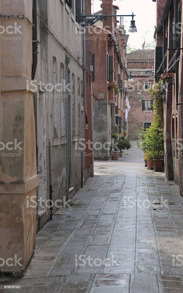 Venetian alley royalty-free stock photo