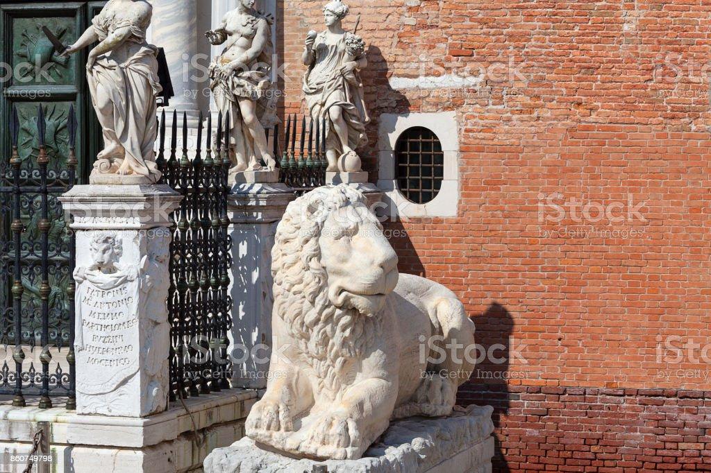 Arsenal de Veneza, complexo dos antigos estaleiros e arsenais, Veneza, Itália - foto de acervo