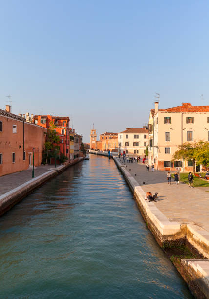 Venetian Arsenal, Fondamenta Arsenale, old shipyard, Venice, Italy Venice, Italy - September 22, 2017: Venetian Arsenal, Fondamenta Arsenale, old shipyard.12th century Arsenal was the largest industrial complex in Europe before the Industrial Revolution porta magna stock pictures, royalty-free photos & images