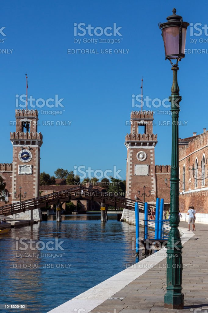 Arsenal de Veneza - Veneza - Itália - foto de acervo