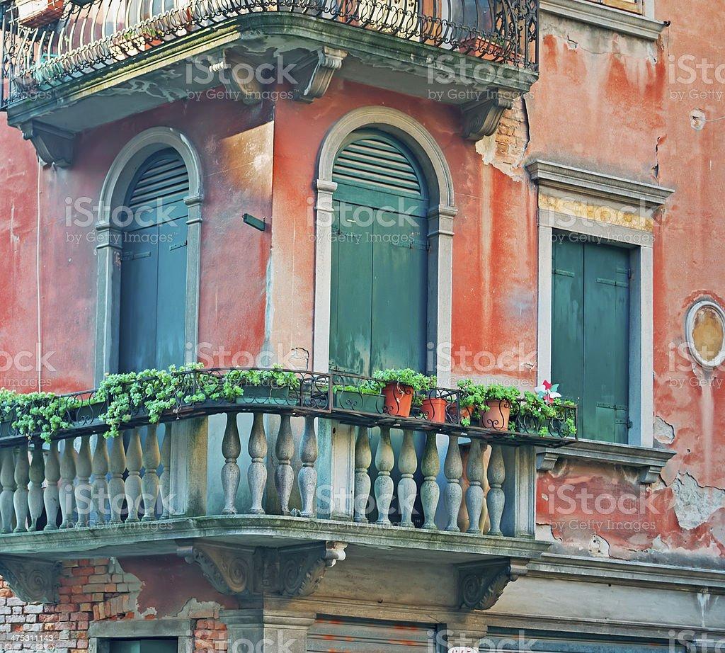 Venetian balcony royalty-free stock photo