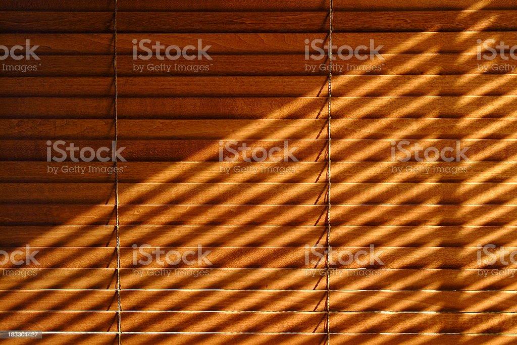 Venetian blind shadows stock photo