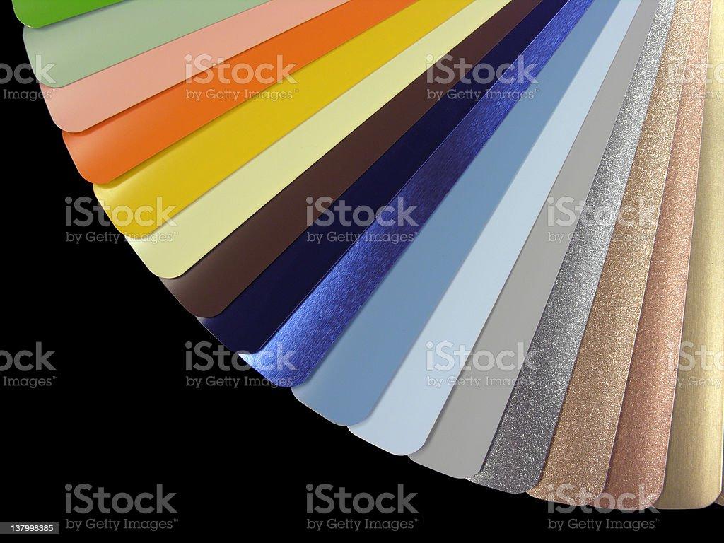 Venetian blinds color chart stock photo