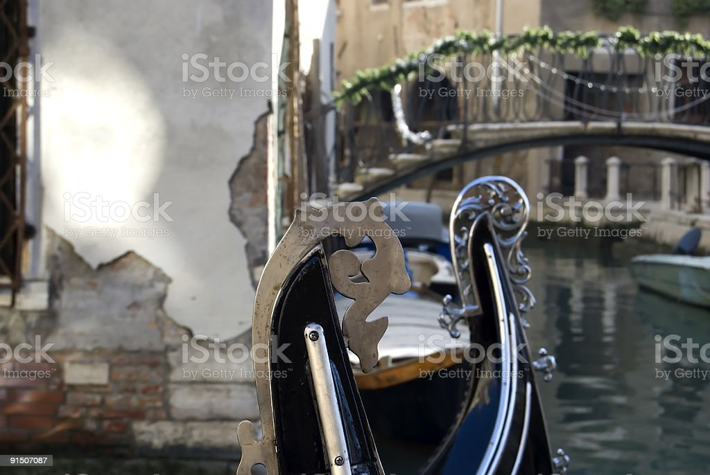 Venetian boat close up royalty-free stock photo