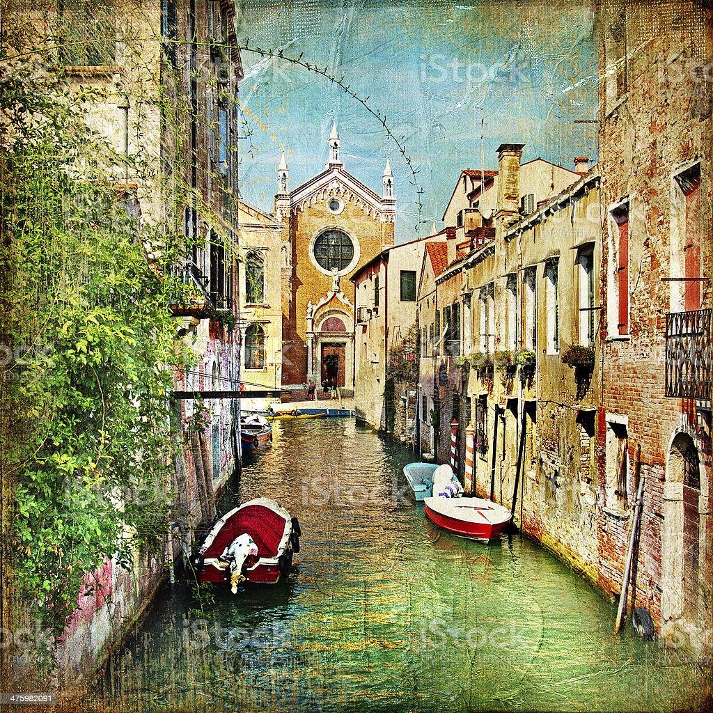 Venetian canals stock photo