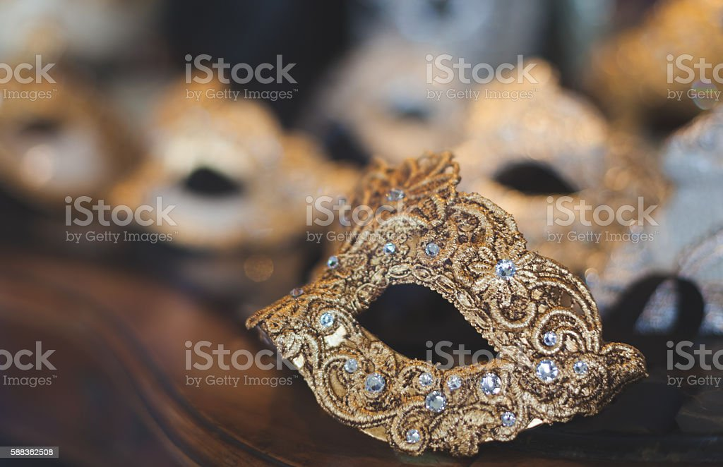 Venetian carnival face mask stock photo