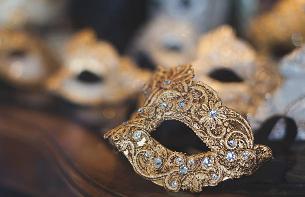 venetian carnival face mask - opera stock photos and pictures