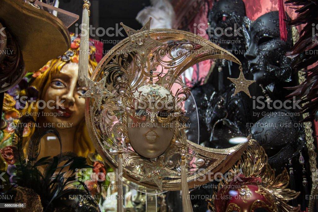 Venetian carnival face mask stock photo