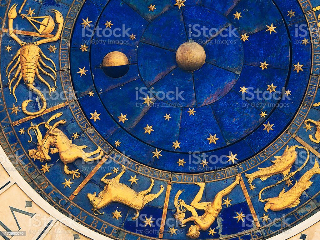 venetian clock stock photo