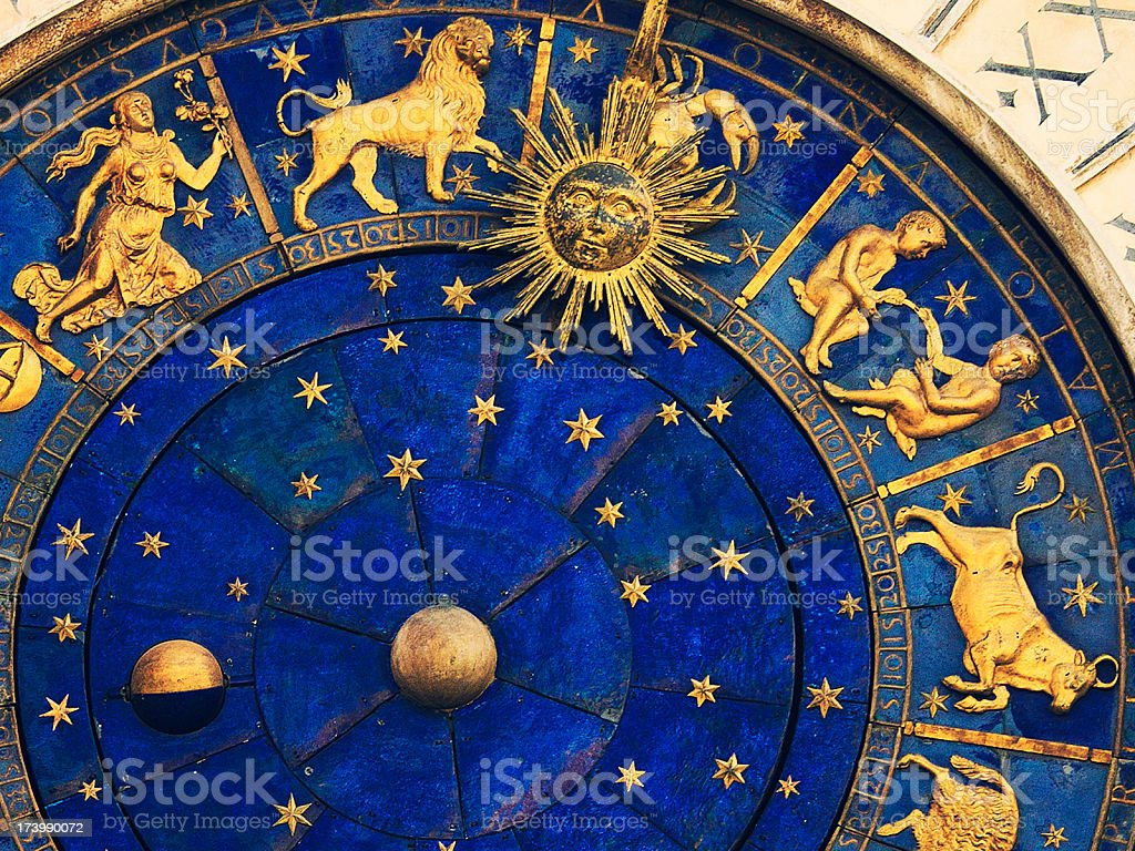 venetian clock royalty-free stock photo
