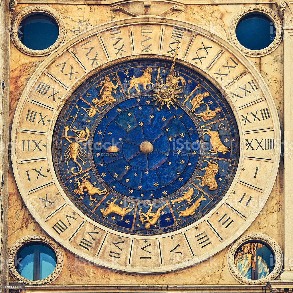 venetian clock stock photo