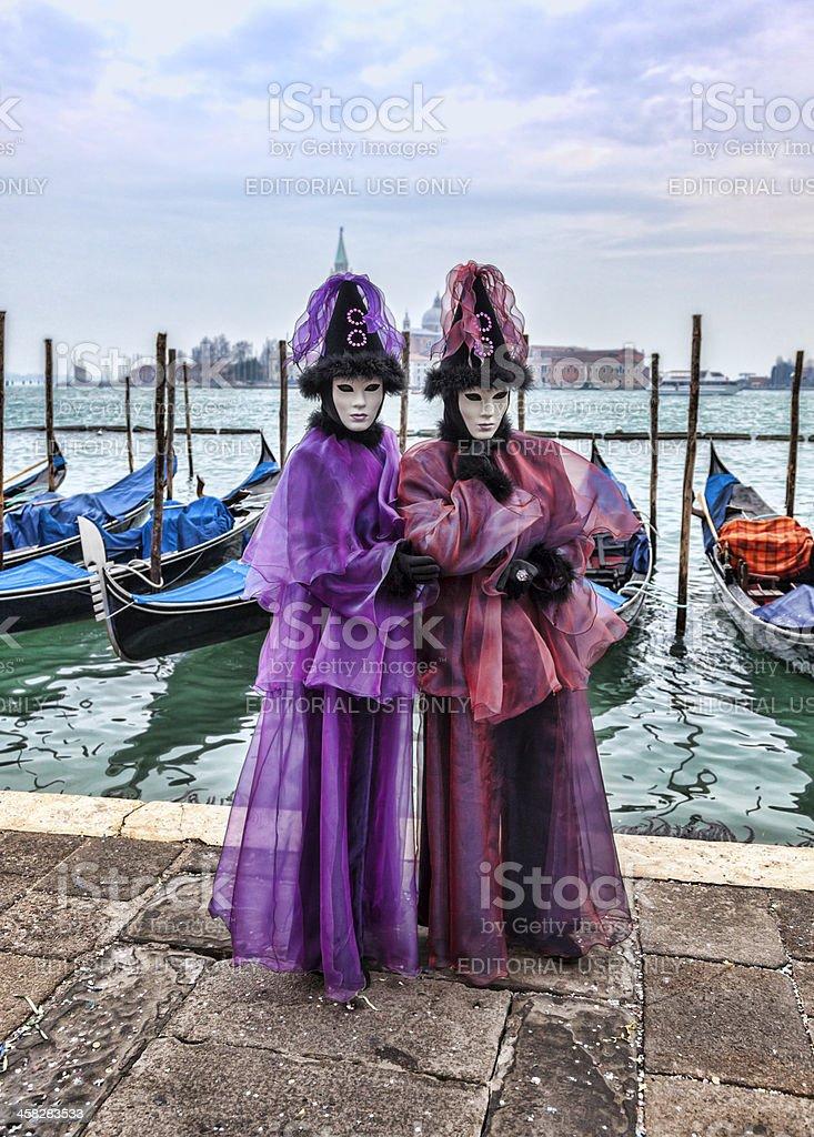 Venetian Couple royalty-free stock photo