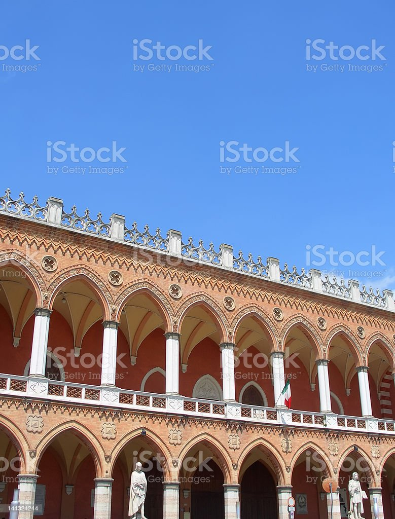 Venetian facade in Padua, verical royalty-free stock photo