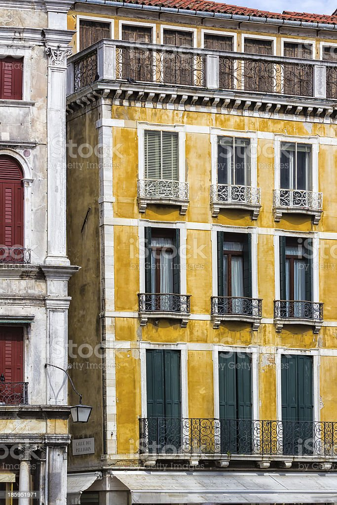 Venetian Facade. Italy royalty-free stock photo
