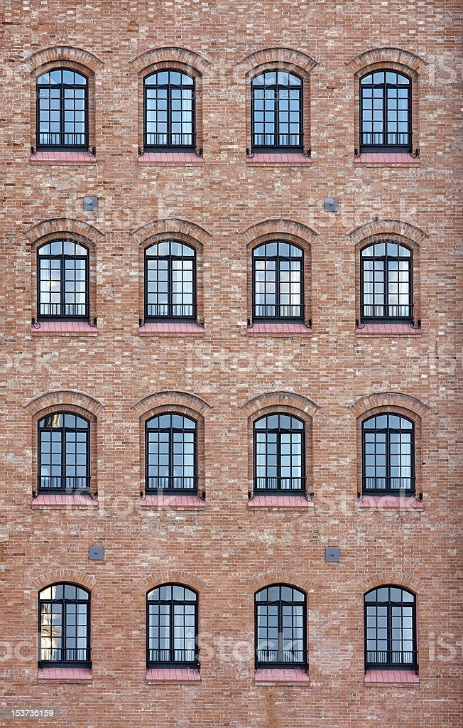 Venetian Factory Windows royalty-free stock photo