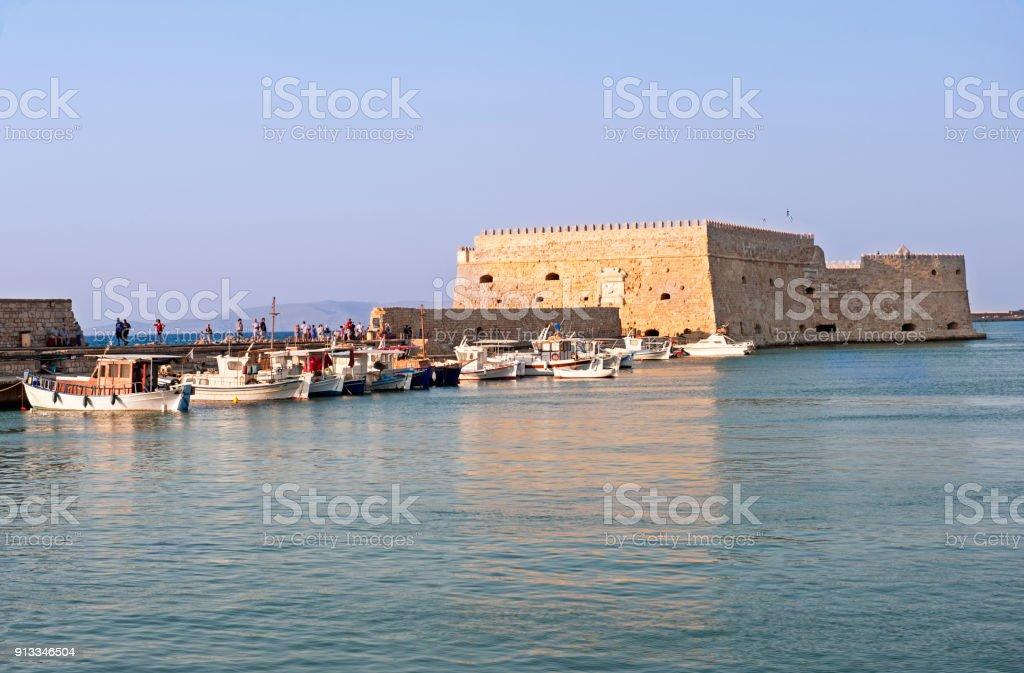 Veneziano fort em Heraklion - foto de acervo