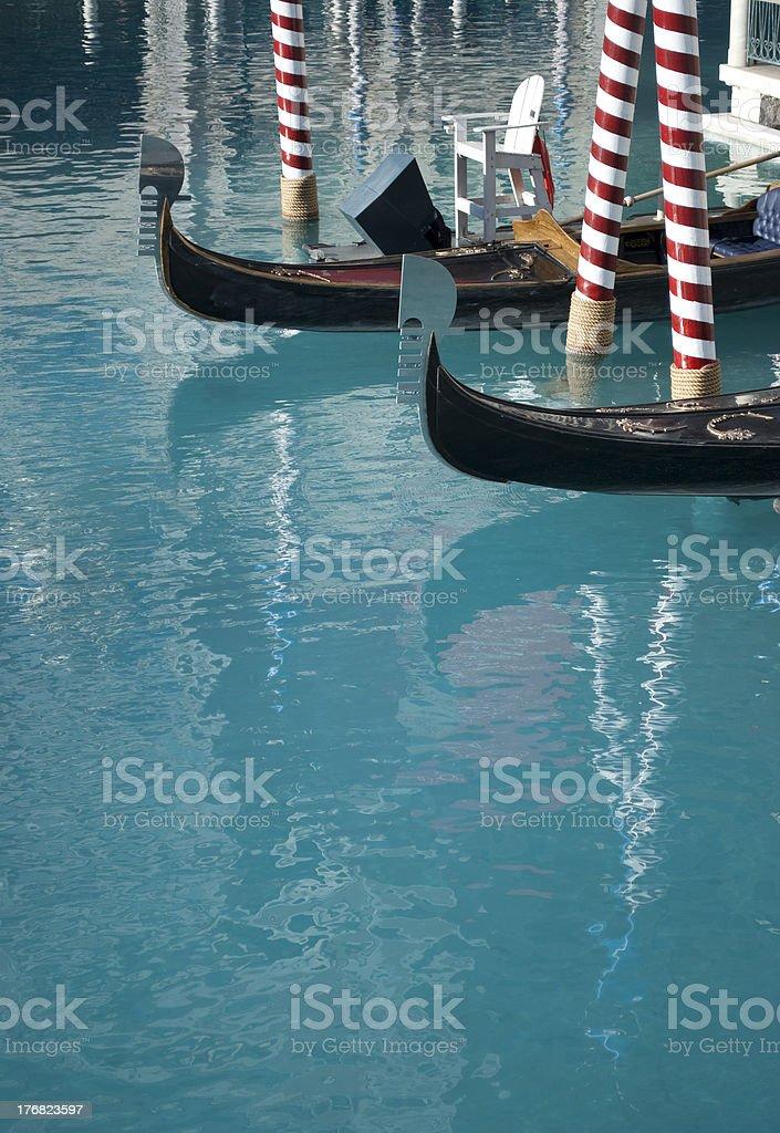 Venetian Gondola at a Las Vegas Hotel stock photo
