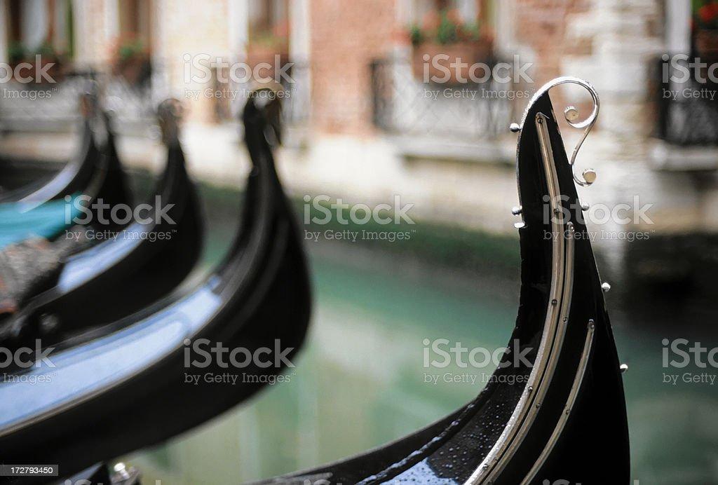 Venetian gondola horizontal royalty-free stock photo