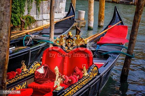 Venetian Gondola interior details - Venice, Veneto - Italy