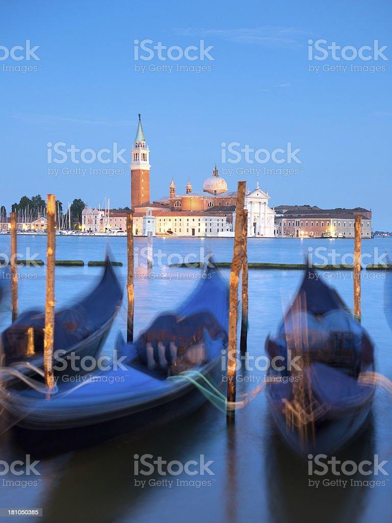 Venetian Gondolas, Venice, Italy royalty-free stock photo