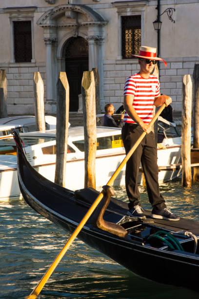 A Venetian Gondolier. stock photo
