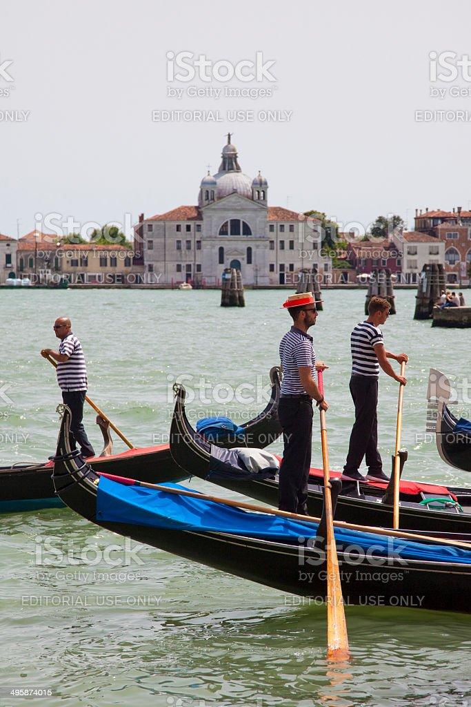 Venetian gondoliers royalty-free stock photo