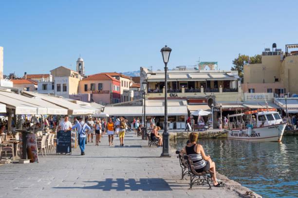 Venezianischer Hafen in Chania, Kreta – Foto