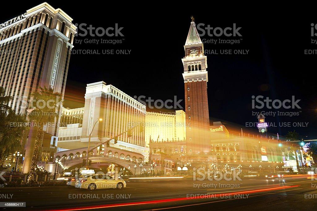 Venetian Hotel and Casino with Campanile Las Vegas USA royalty-free stock photo
